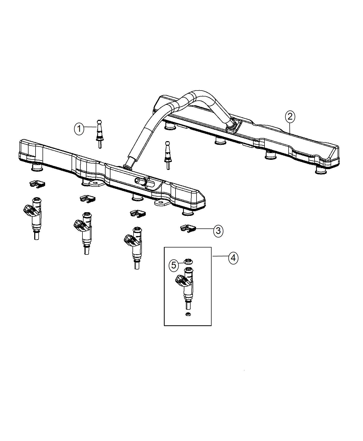 Dodge Charger Rail Fuel 6 4l Srt Hemi Smpi V8 Engine