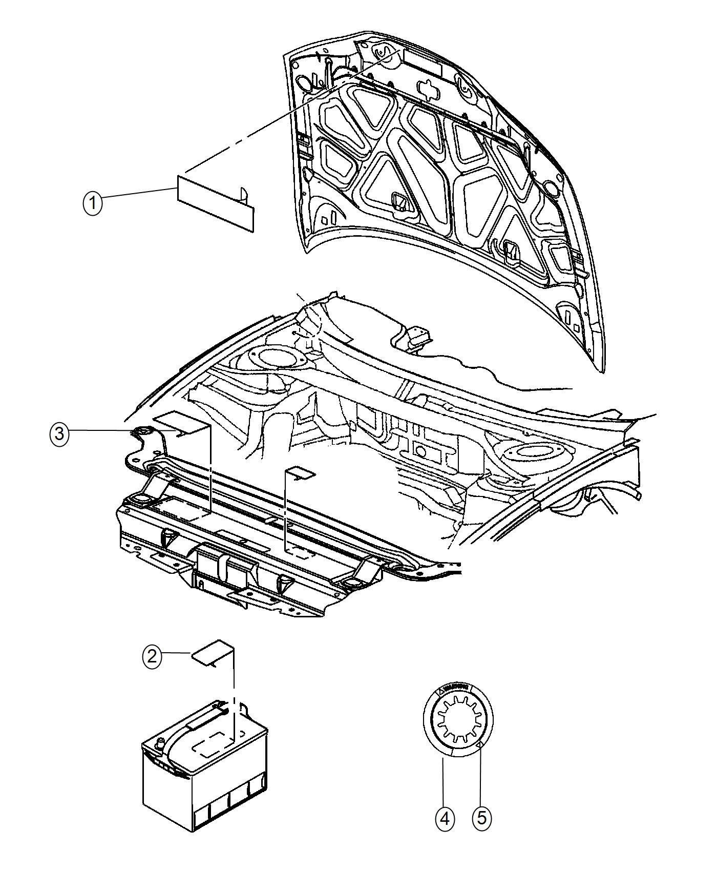 Dodge Challenger Label Air Conditioning System Xfc