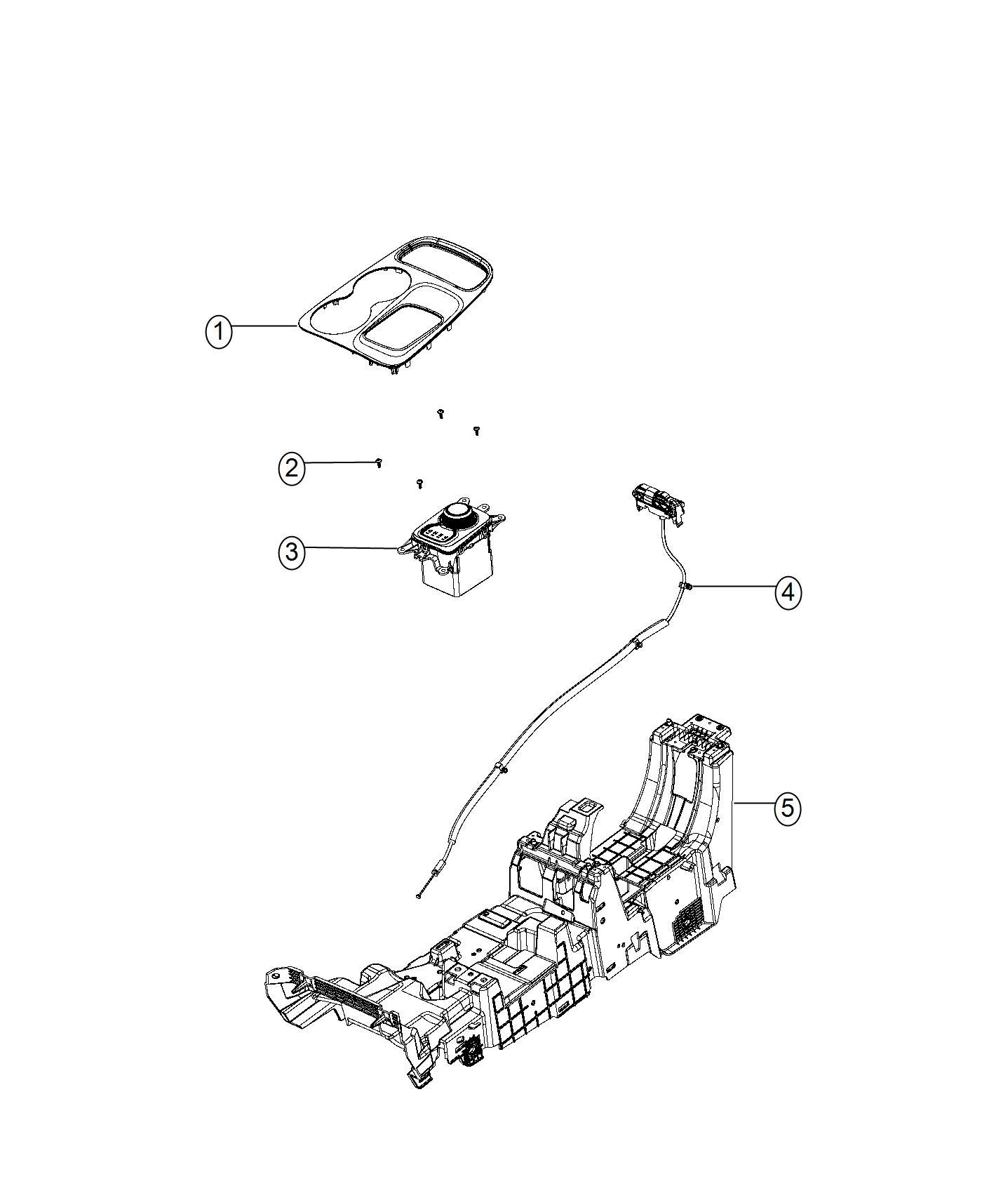 Dodge Durango Bezel. Gear shift indicator. Trim: [no
