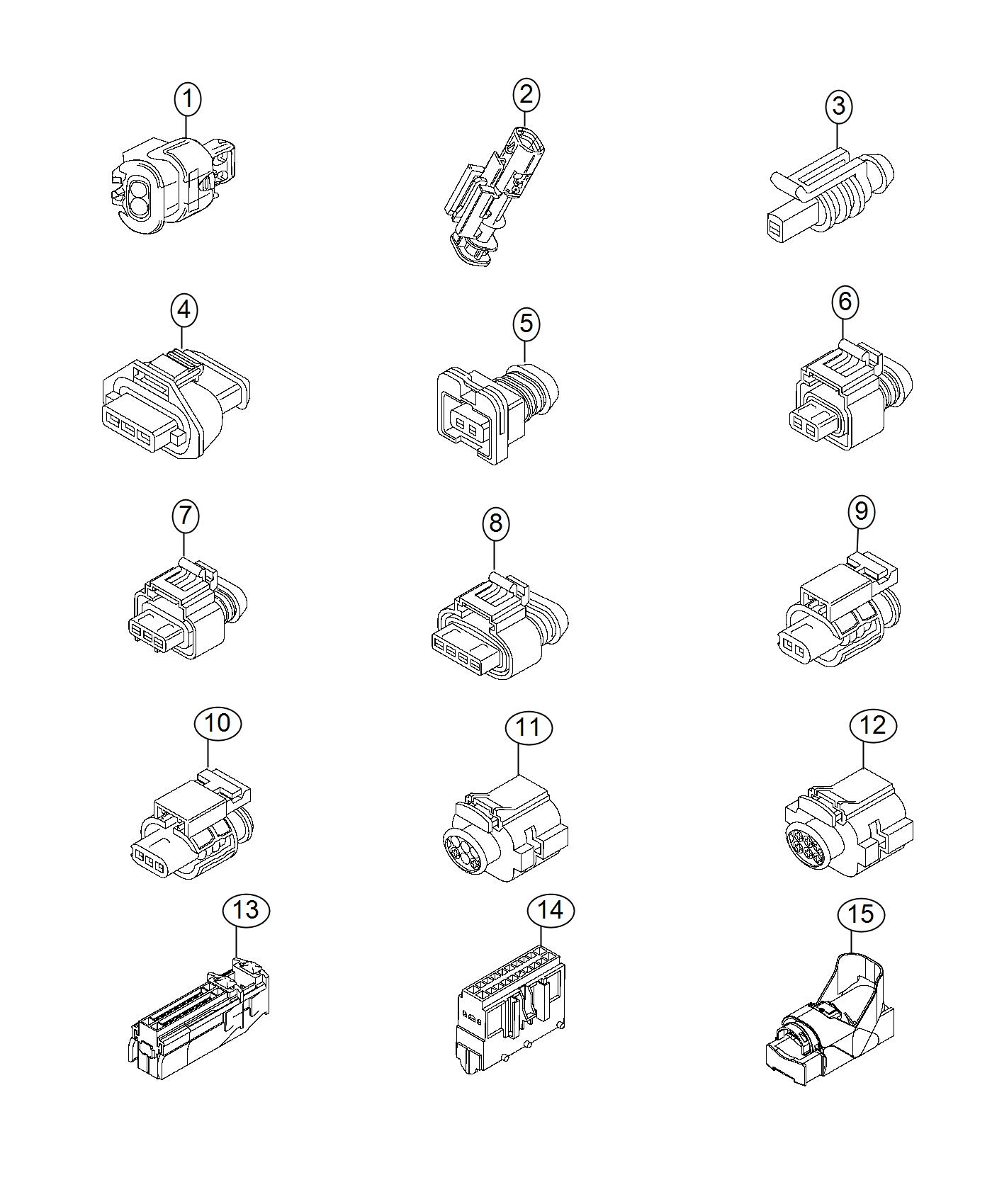Jeep RENEGADE Connector. Electrical. Export, us, canada