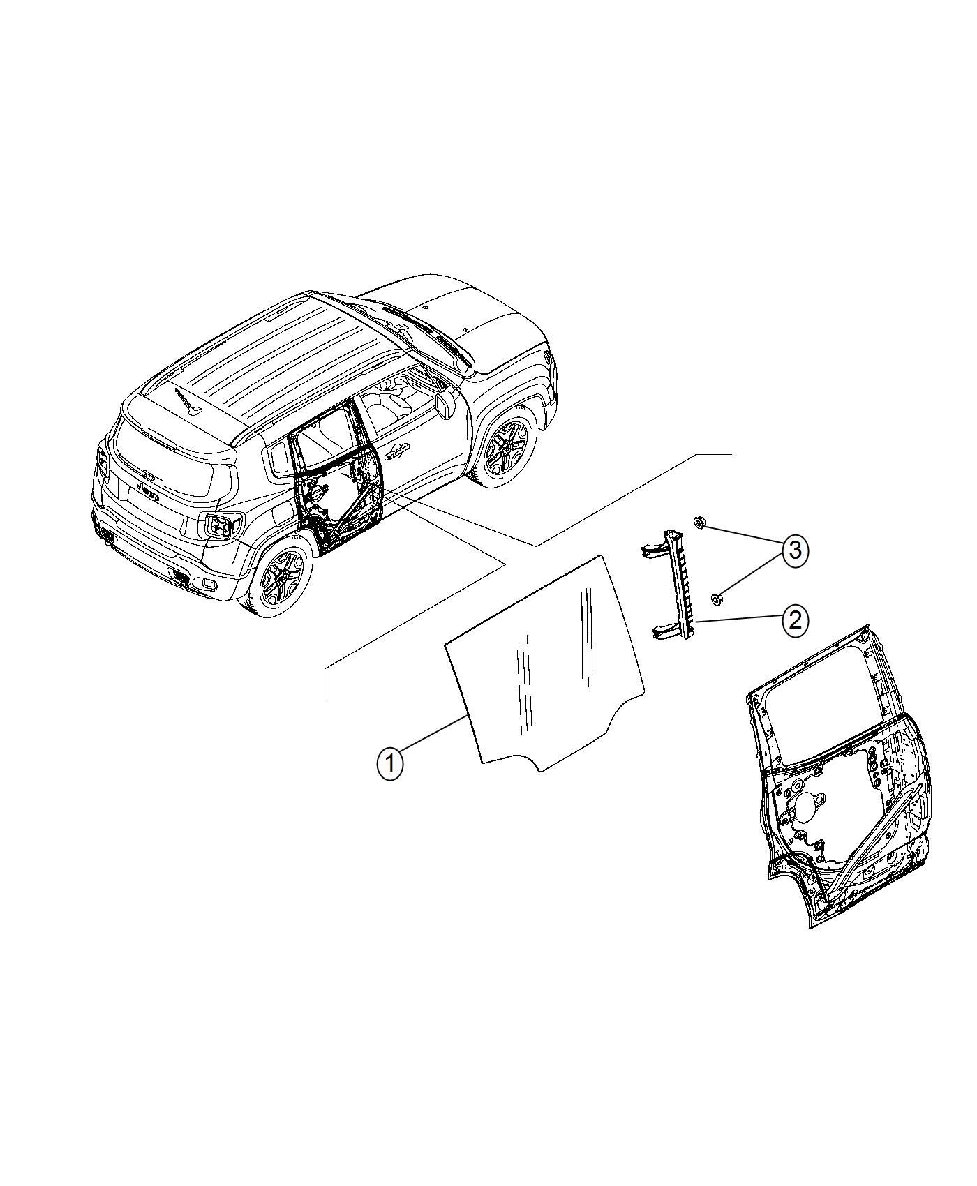 2016 Jeep RENEGADE SPORT 2.4L I4 A/T 4X4 Pin. Door panel