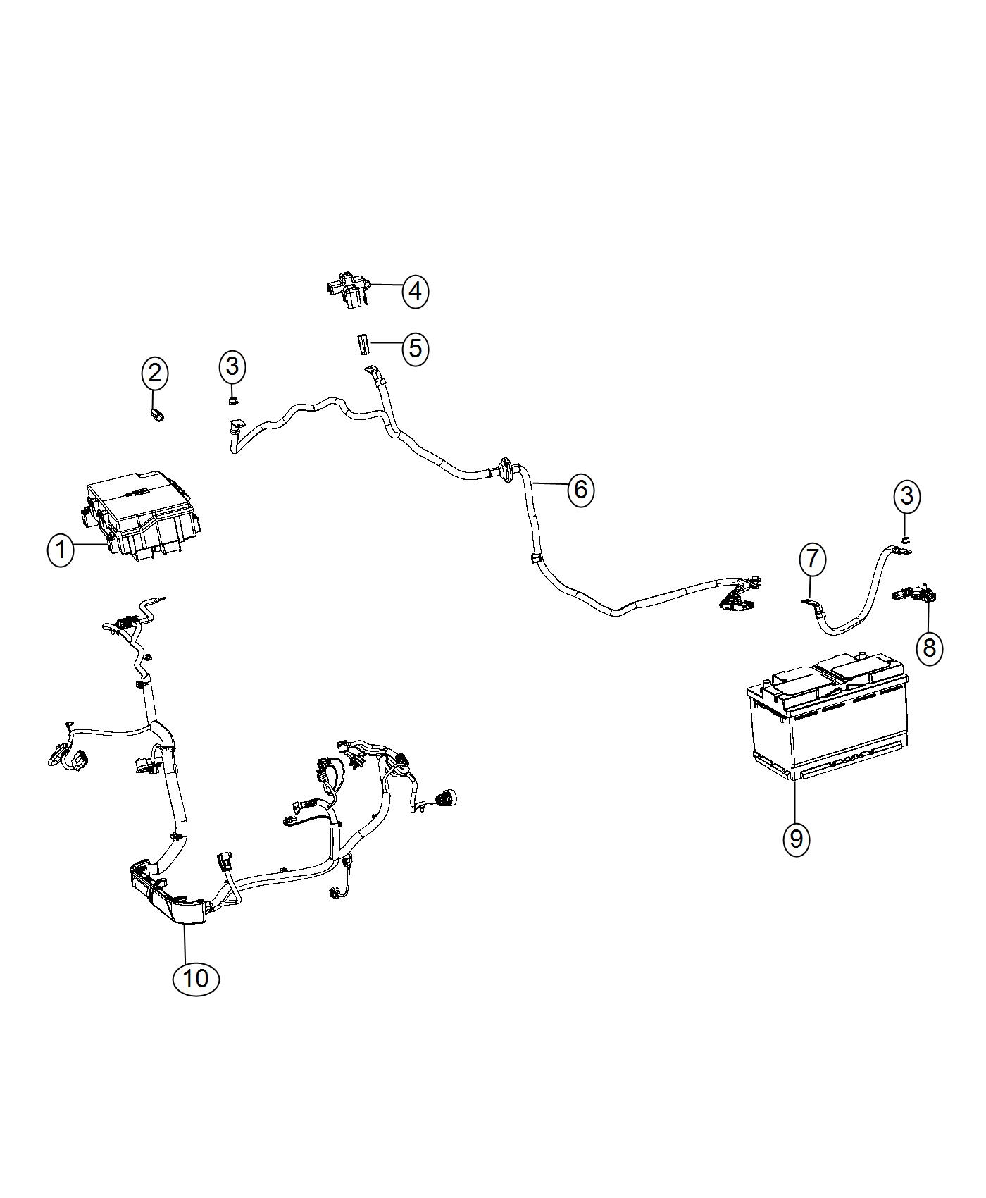 Jeep Grand Cherokee Wiring. Used for: battery, alternator