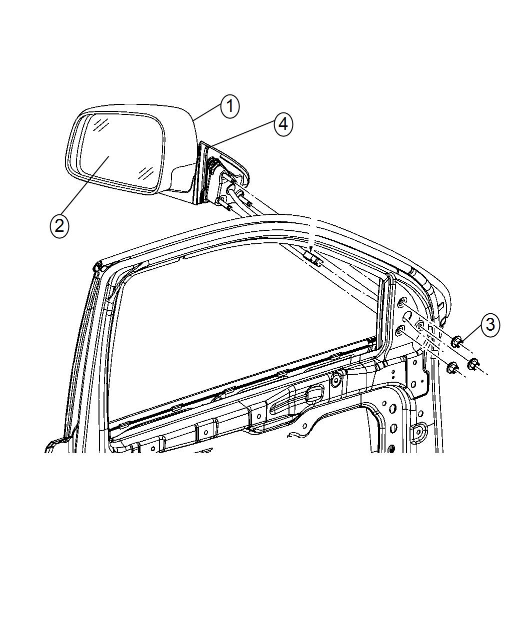 Jeep Grand Cherokee Mirror Outside Rearview Color Gray