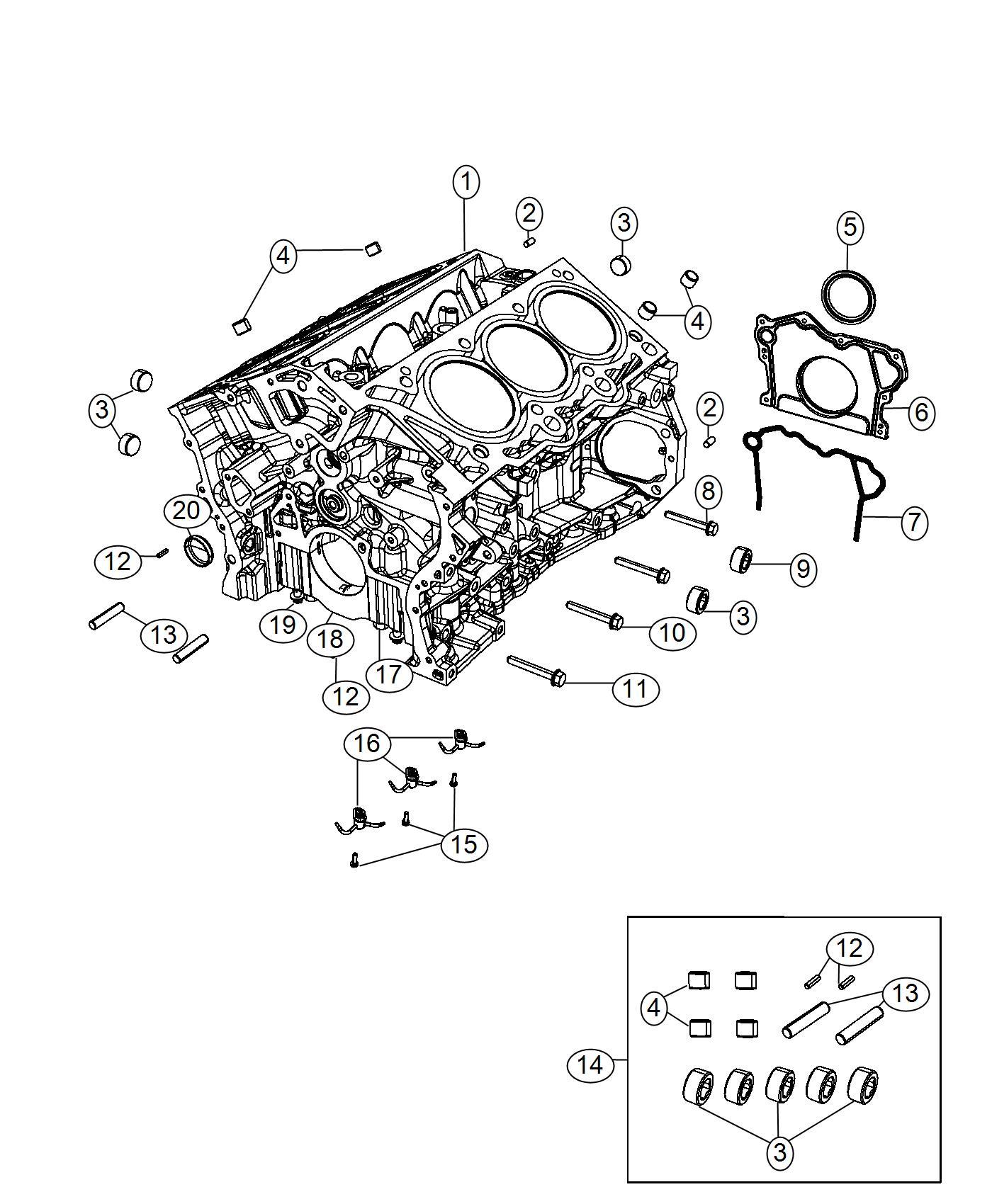 Chrysler Pacifica Pin Kit Short Block Engine