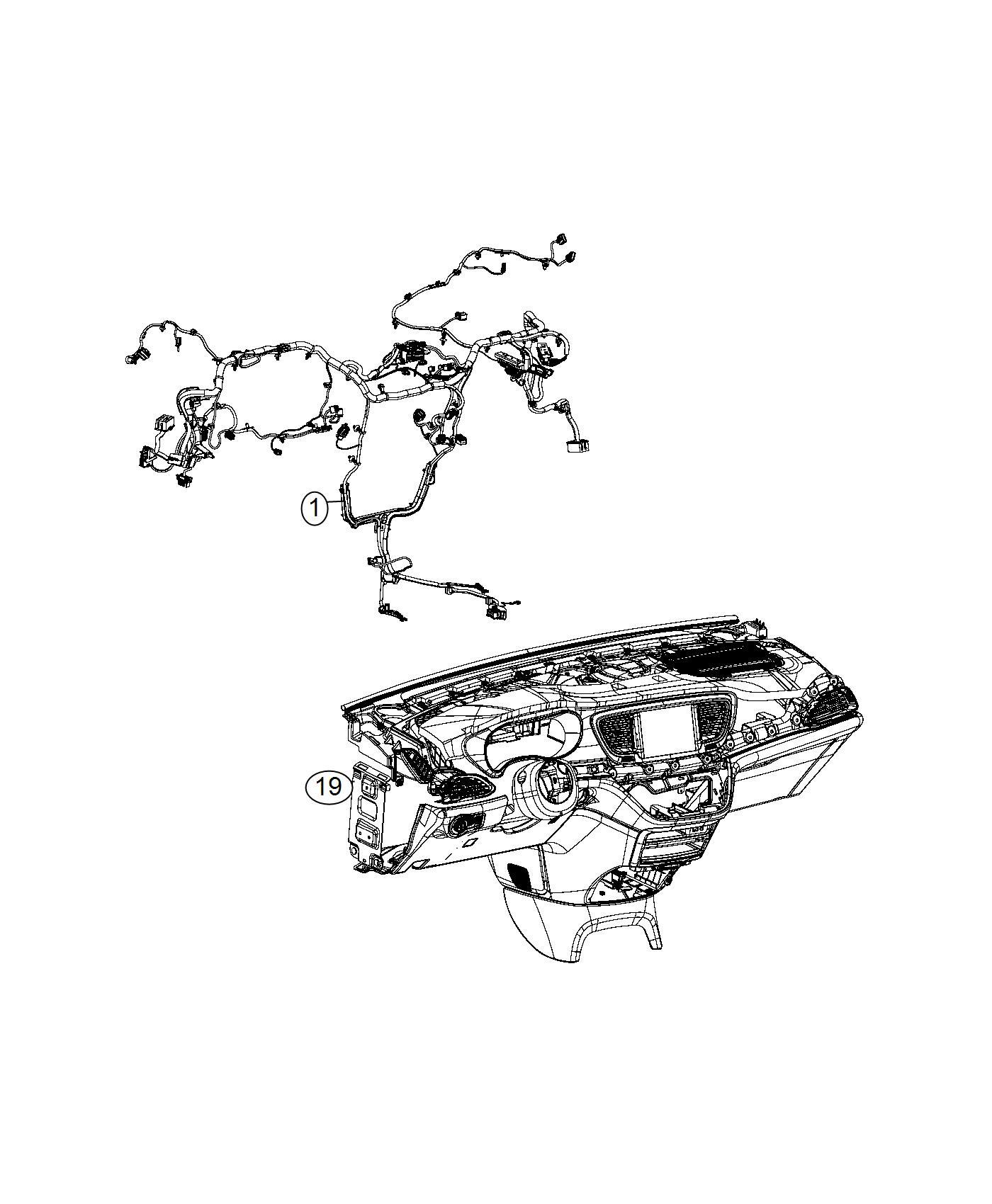 Chrysler Pacifica Bracket. Connector. Star connector
