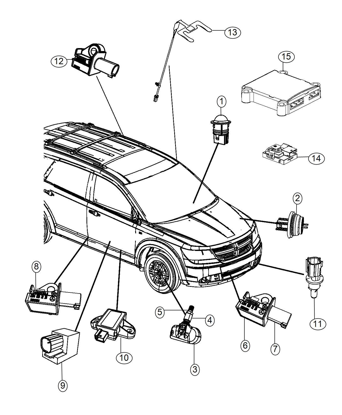 2015 Dodge Charger HELLCAT 6.2L SuperCharged V8 Sensor