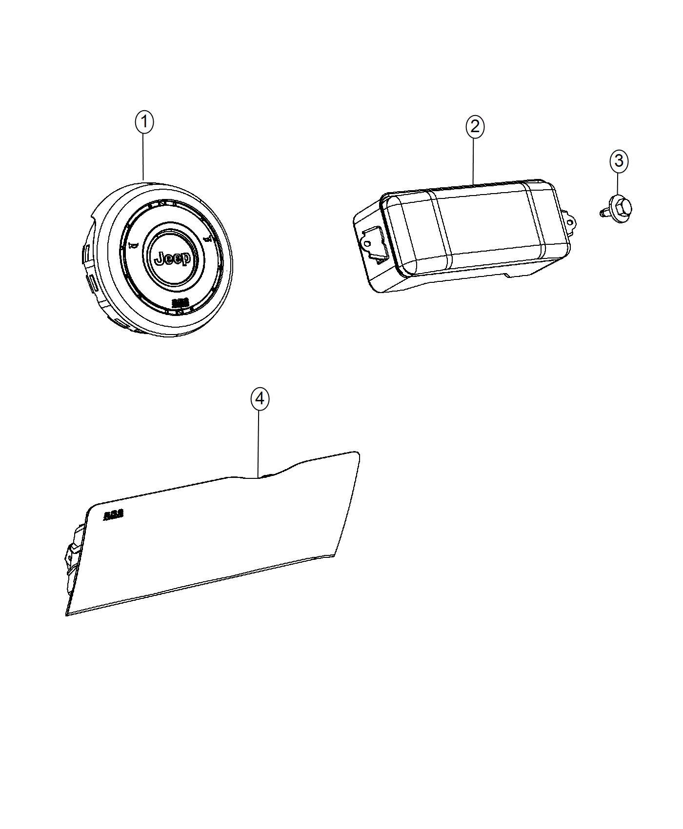 2017 Jeep Grand Cherokee Kneeblocker. Steering column