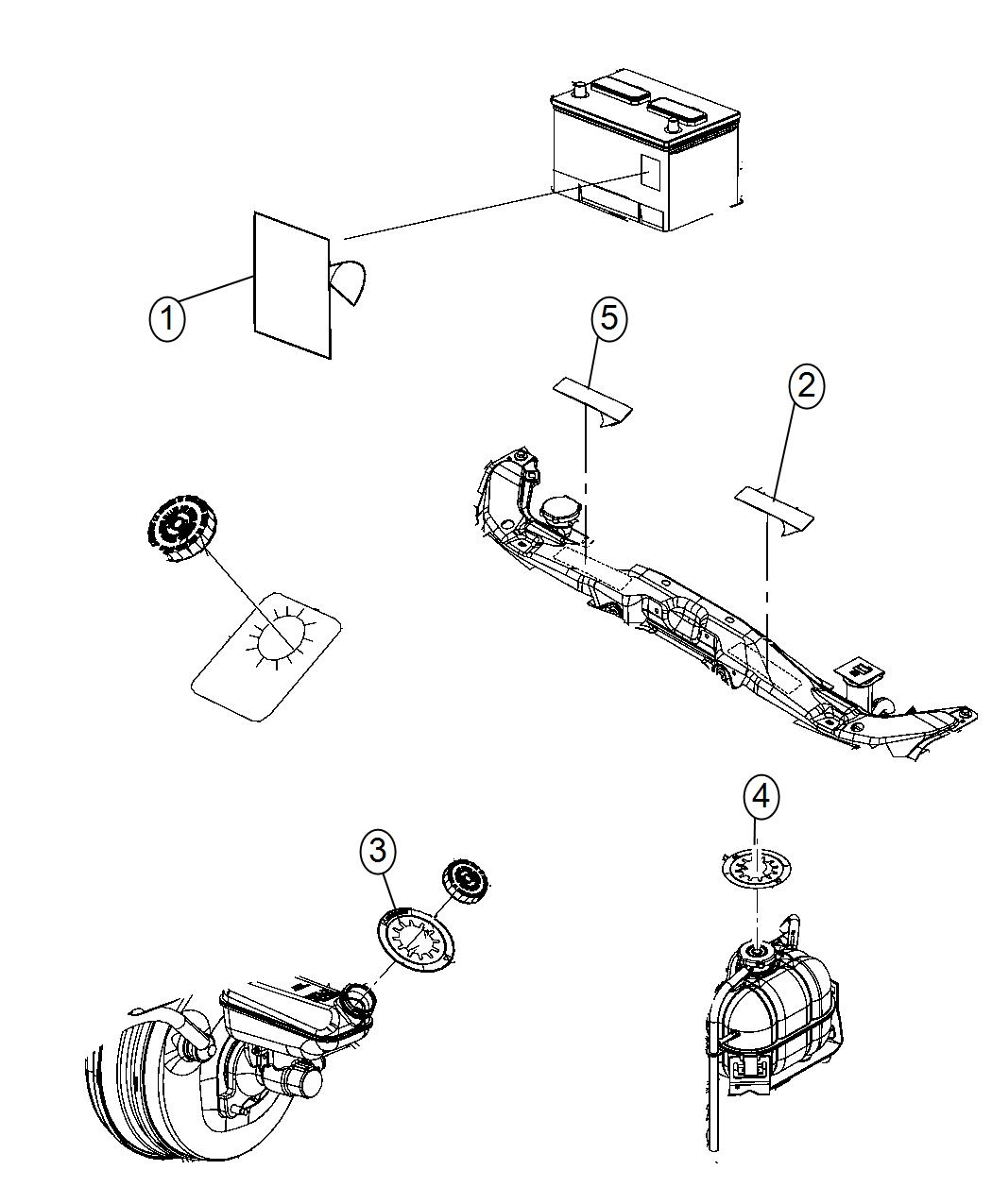 Jeep Grand Cherokee Label Air Conditioning System