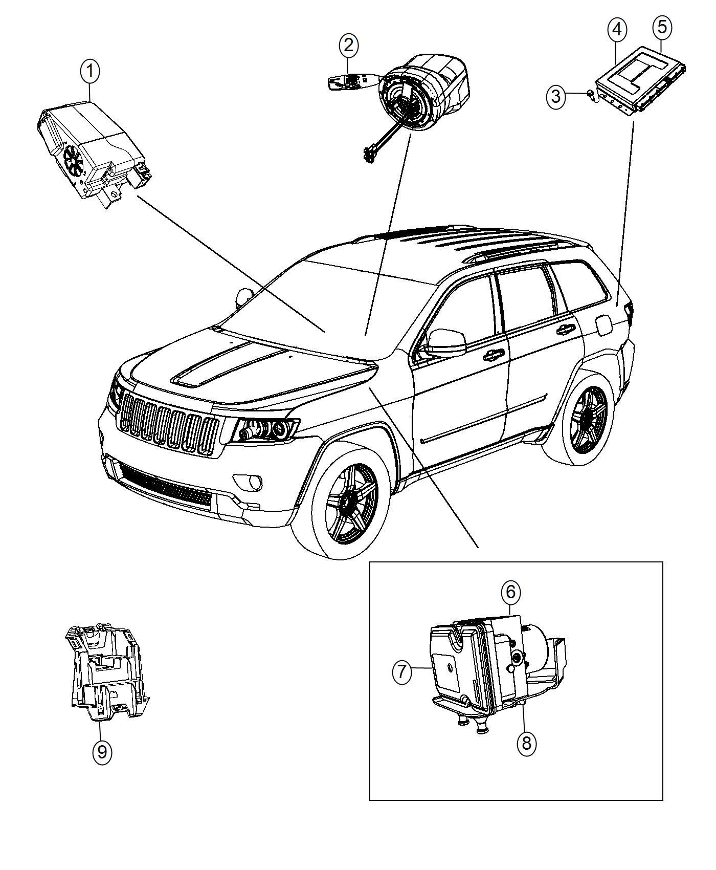 Jeep Grand Cherokee Module. Anti-lock brake system. [speed