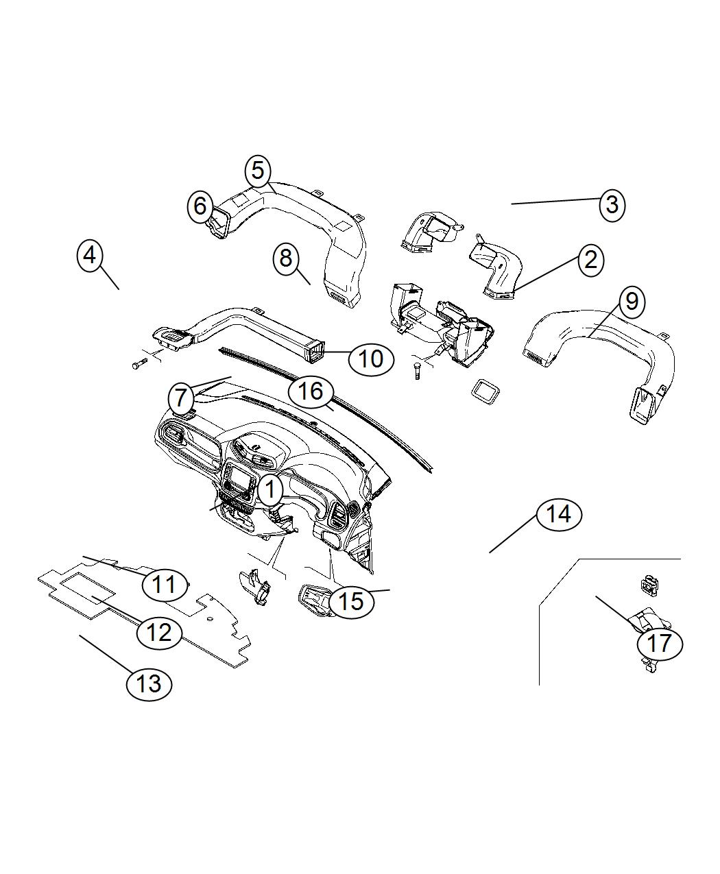 Jeep Renegade Duct Crossover Export Right Hand Drive
