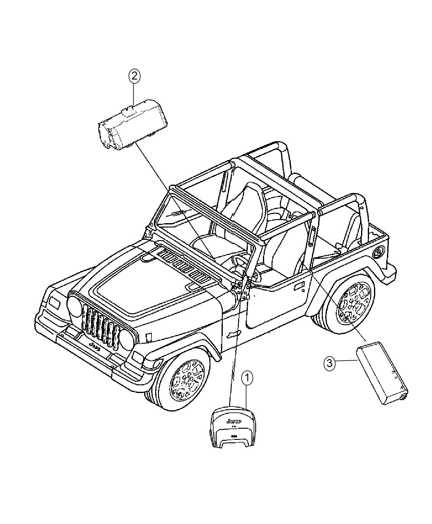 2017 Jeep Wrangler Air bag. Export. Passenger