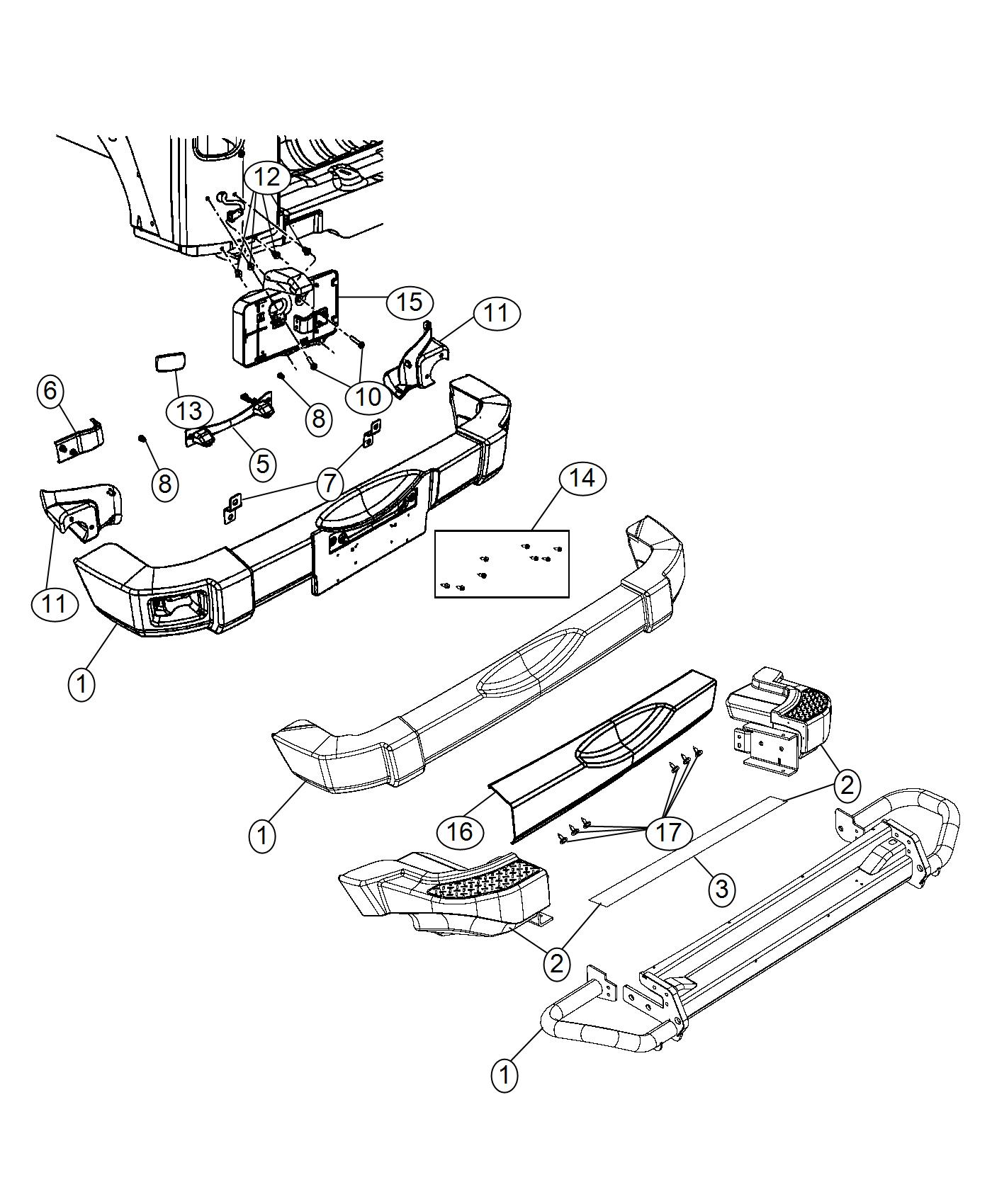 Jeep Wrangler Applique. Fascia. Color: [no description