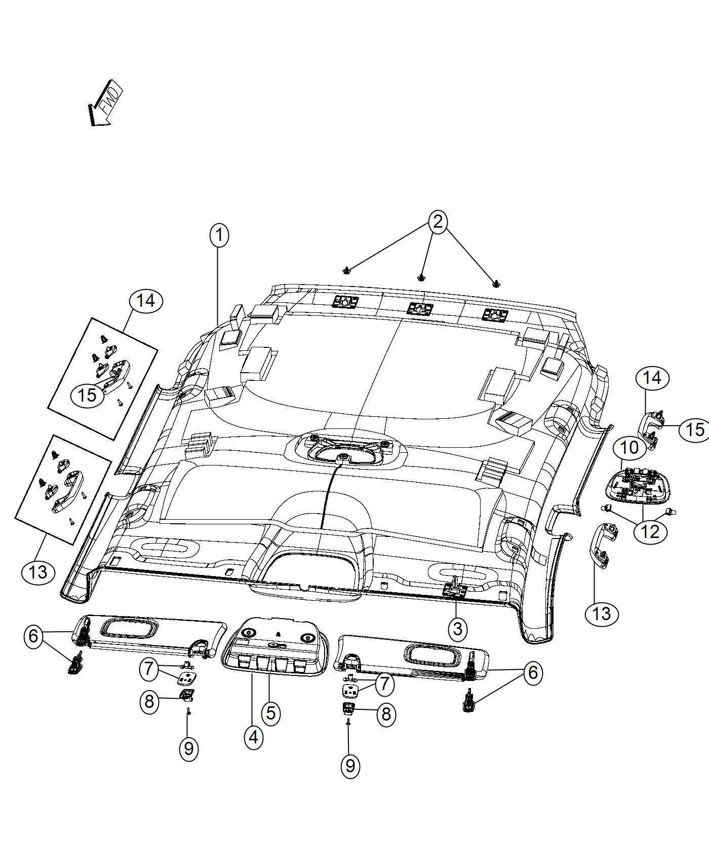 Jeep Compass Headliner. Export. Trim: [*o0] color: [no