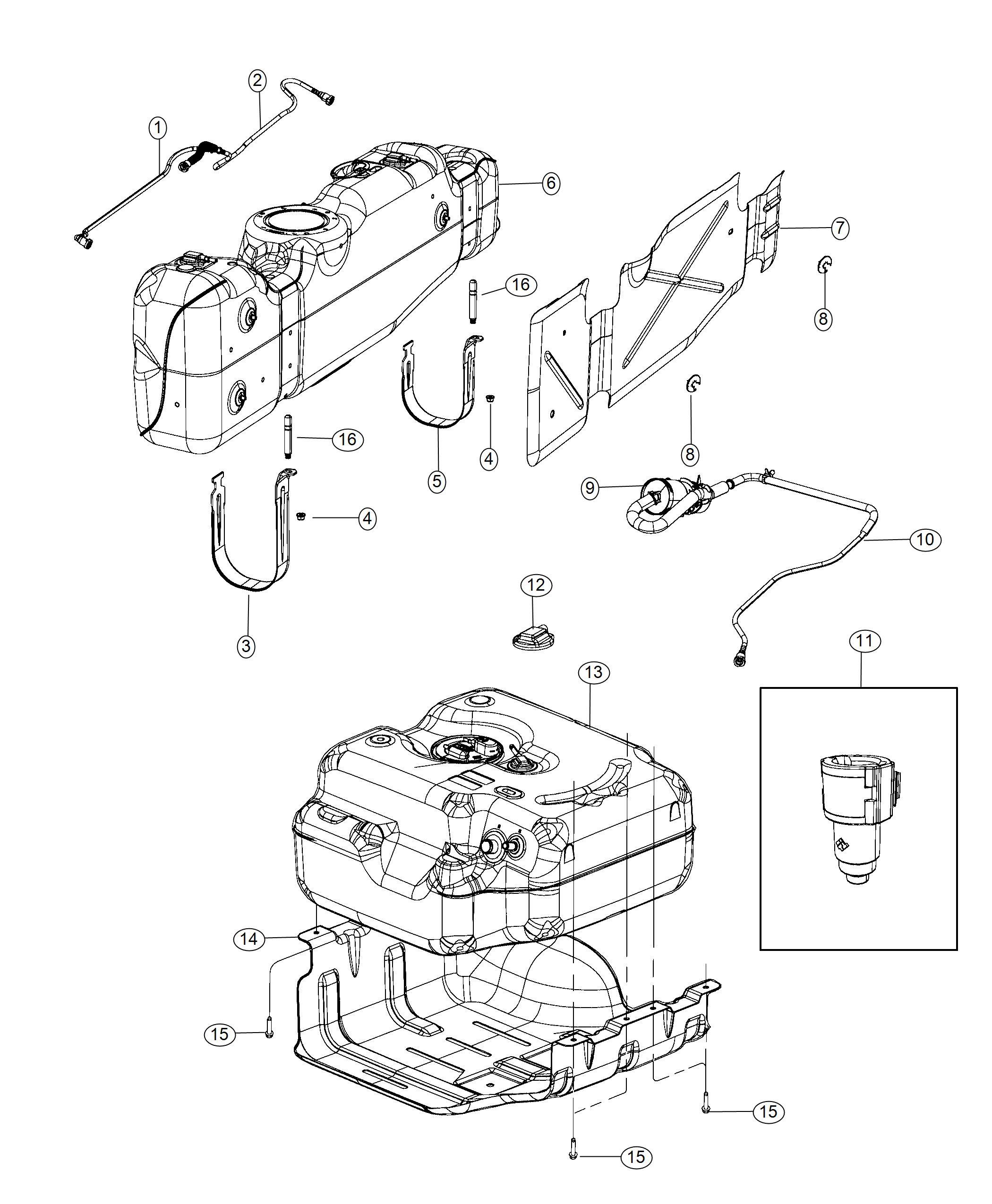 Ram Tank Fuel Rear