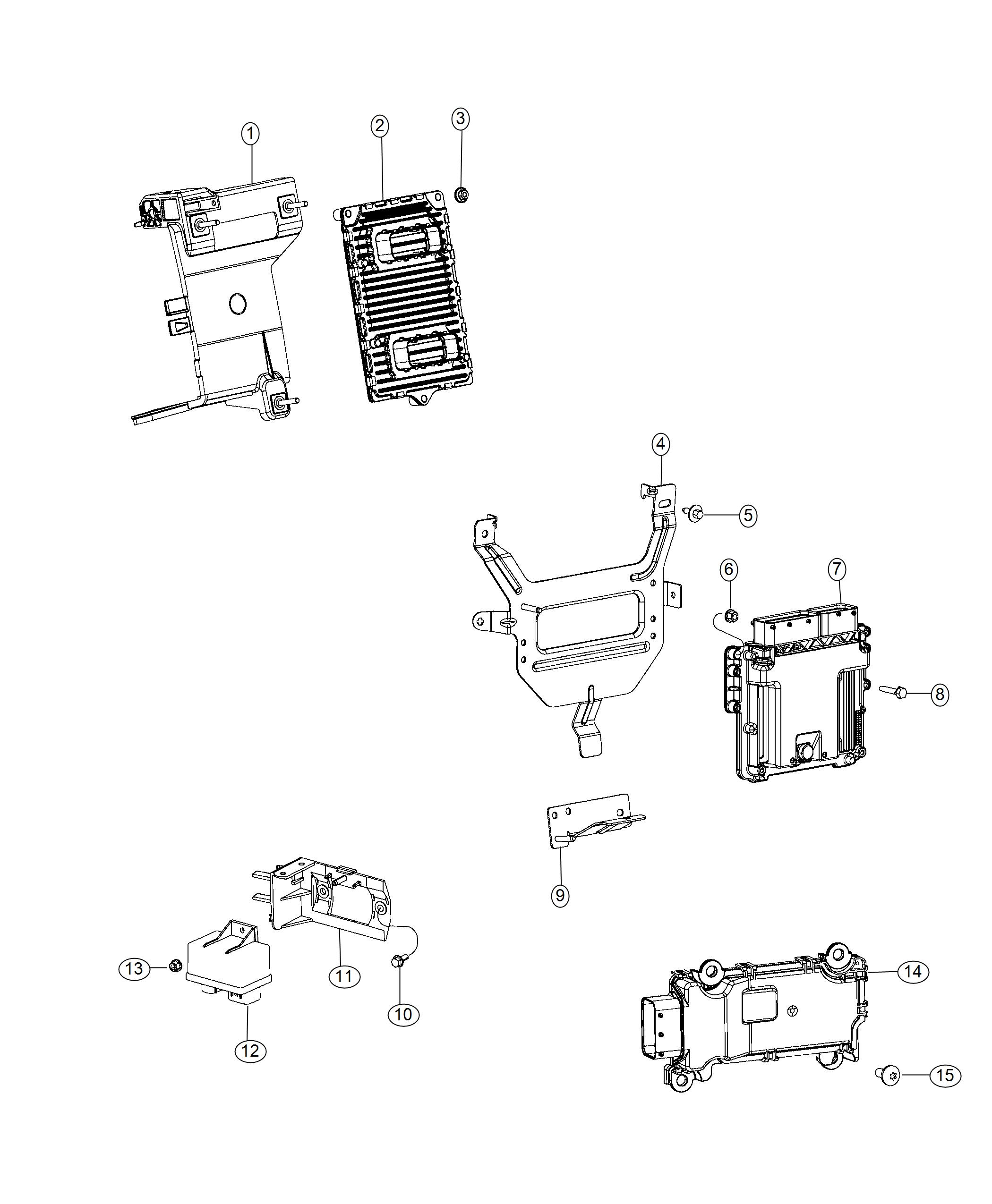 Jeep Cherokee Bracket Engine Control Module Export