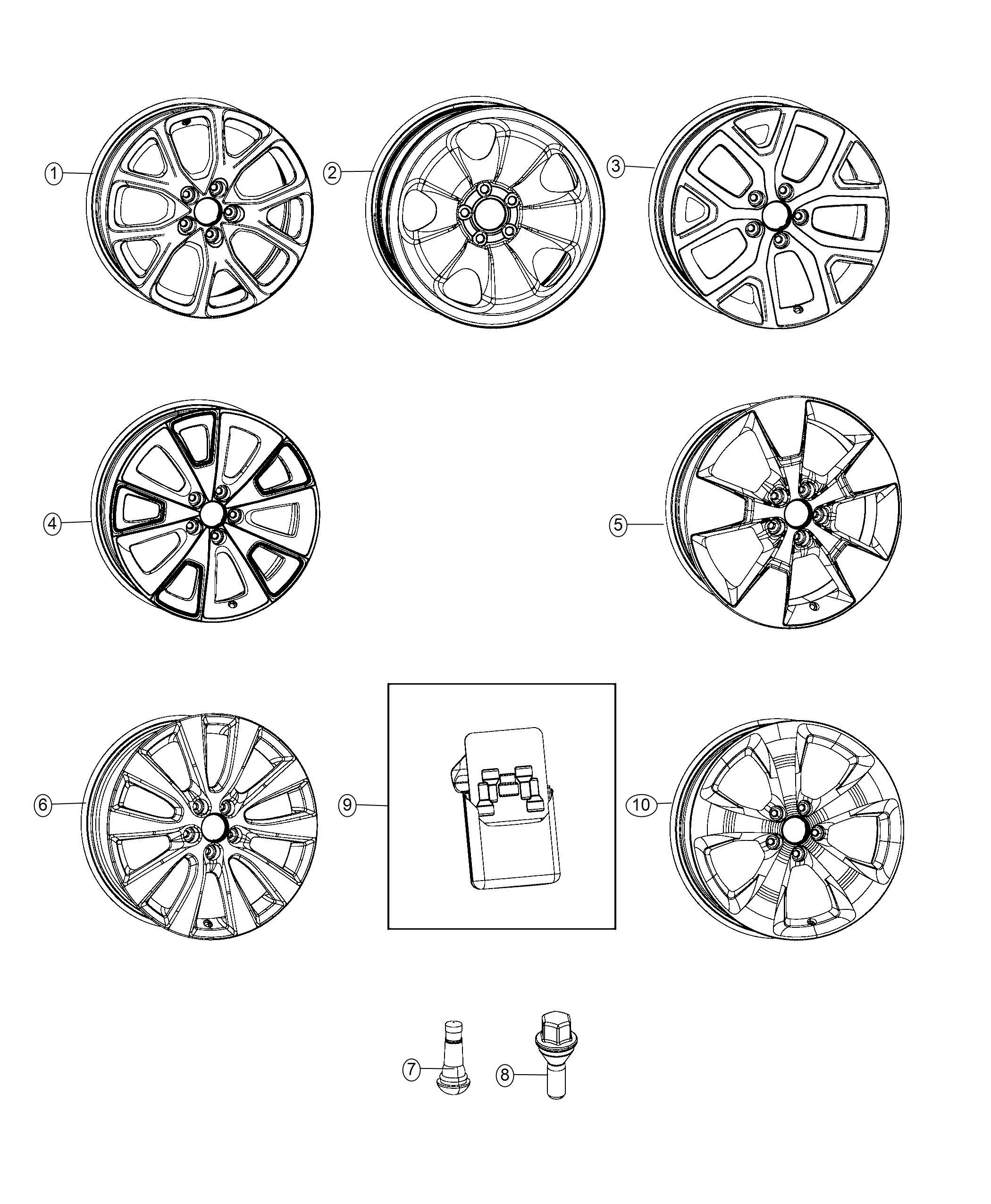 Jeep Cherokee Wheel. Aluminum. Front or rear. Color: [no