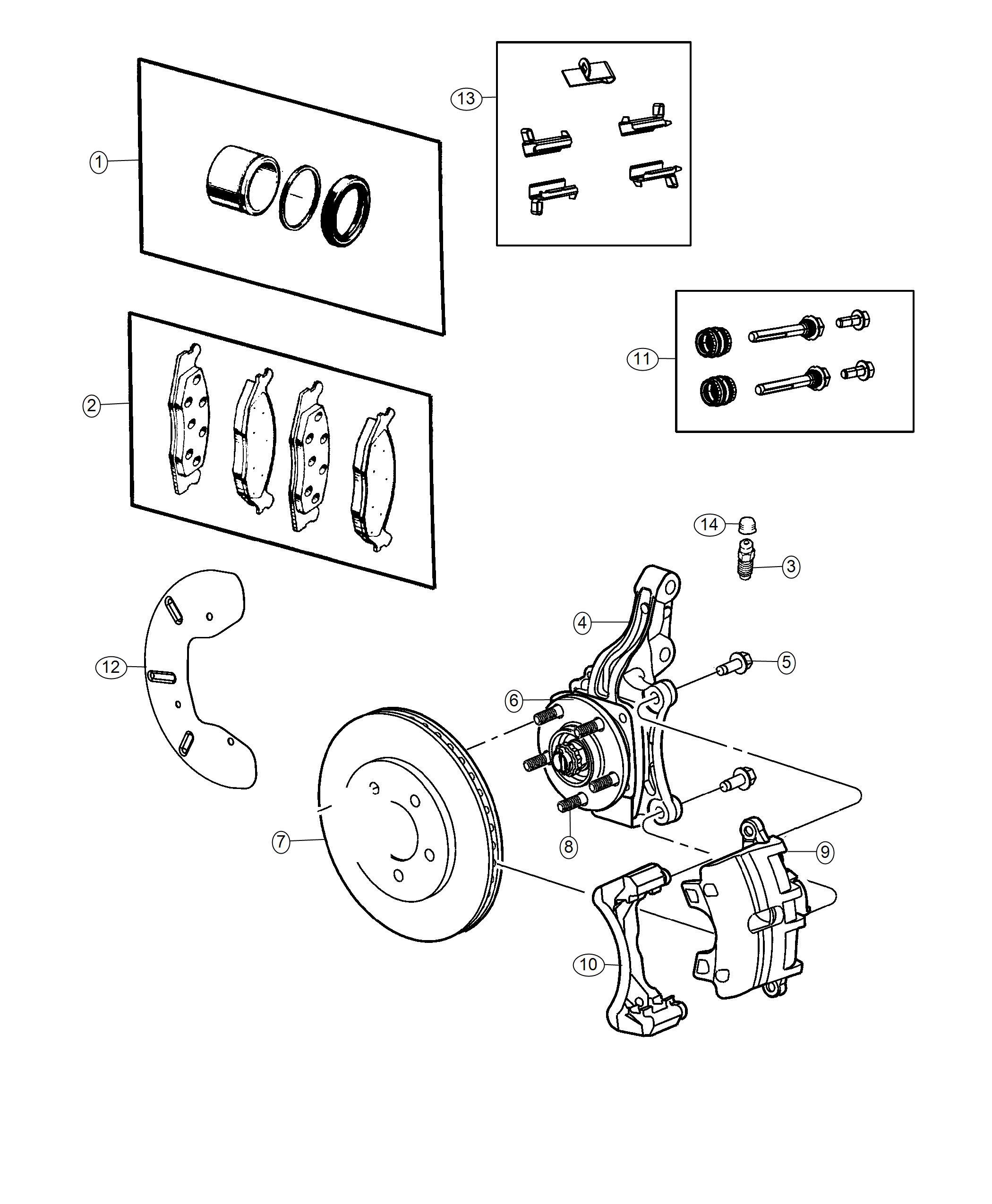 Dodge Journey Rotor. Brake. Front. [anti-lock 4-wheel-disc
