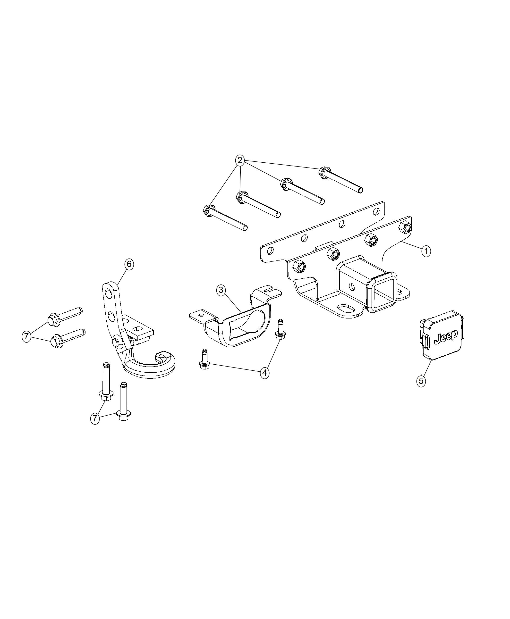 2018 Jeep Wrangler Receiver kit. Trailer tow. [injection