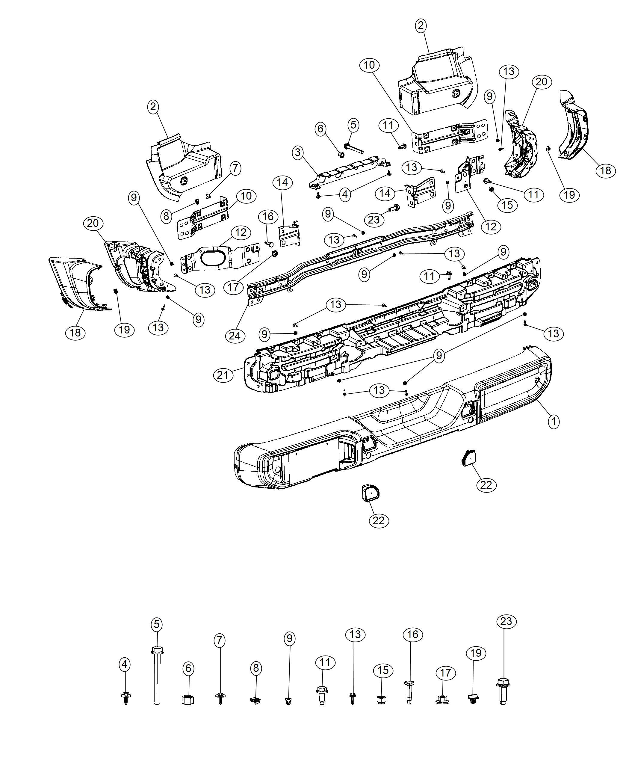 Jeep Wrangler End cap. Bumper. Right. [front fascias parts