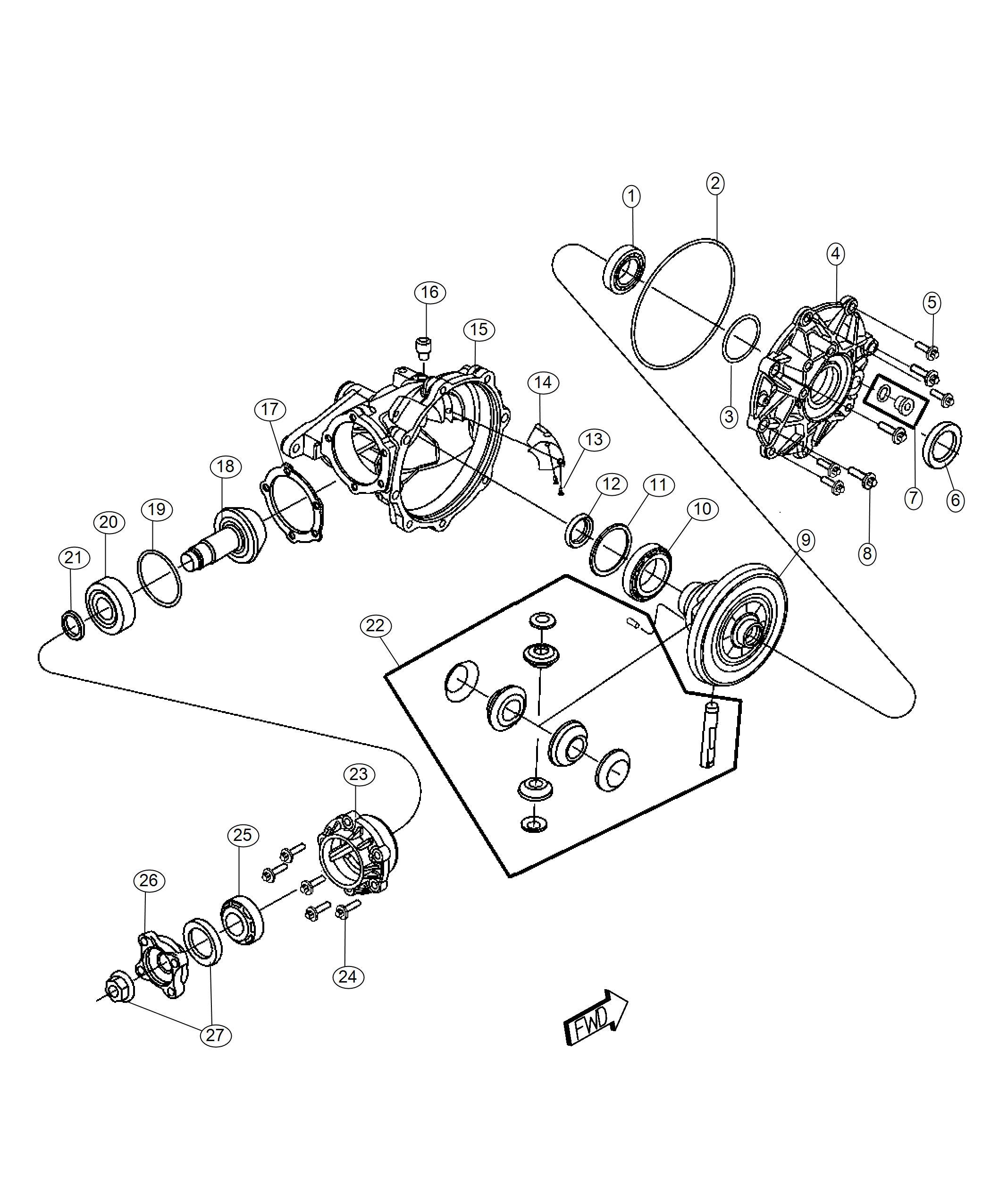 Dodge Challenger Shim. Drive pinion bearing. 1.87 mm, 1