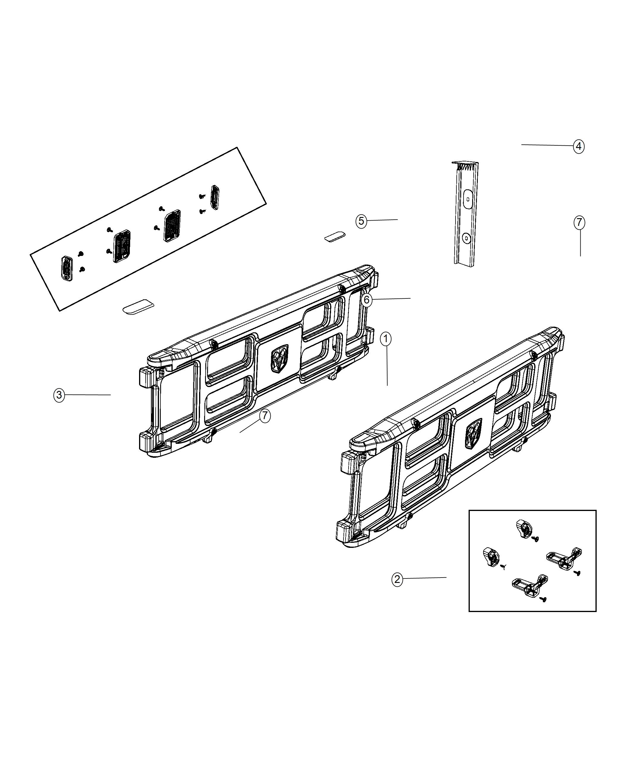 2019 RAM 1500 Divider kit, panel. Cargo bed, pickup box