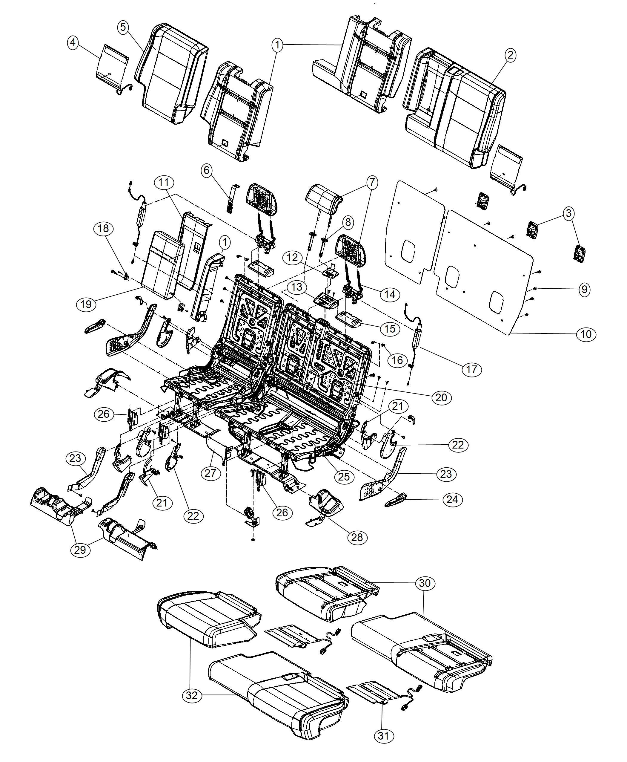 [DIAGRAM] Jeep Cherokee Seat Diagram FULL Version HD