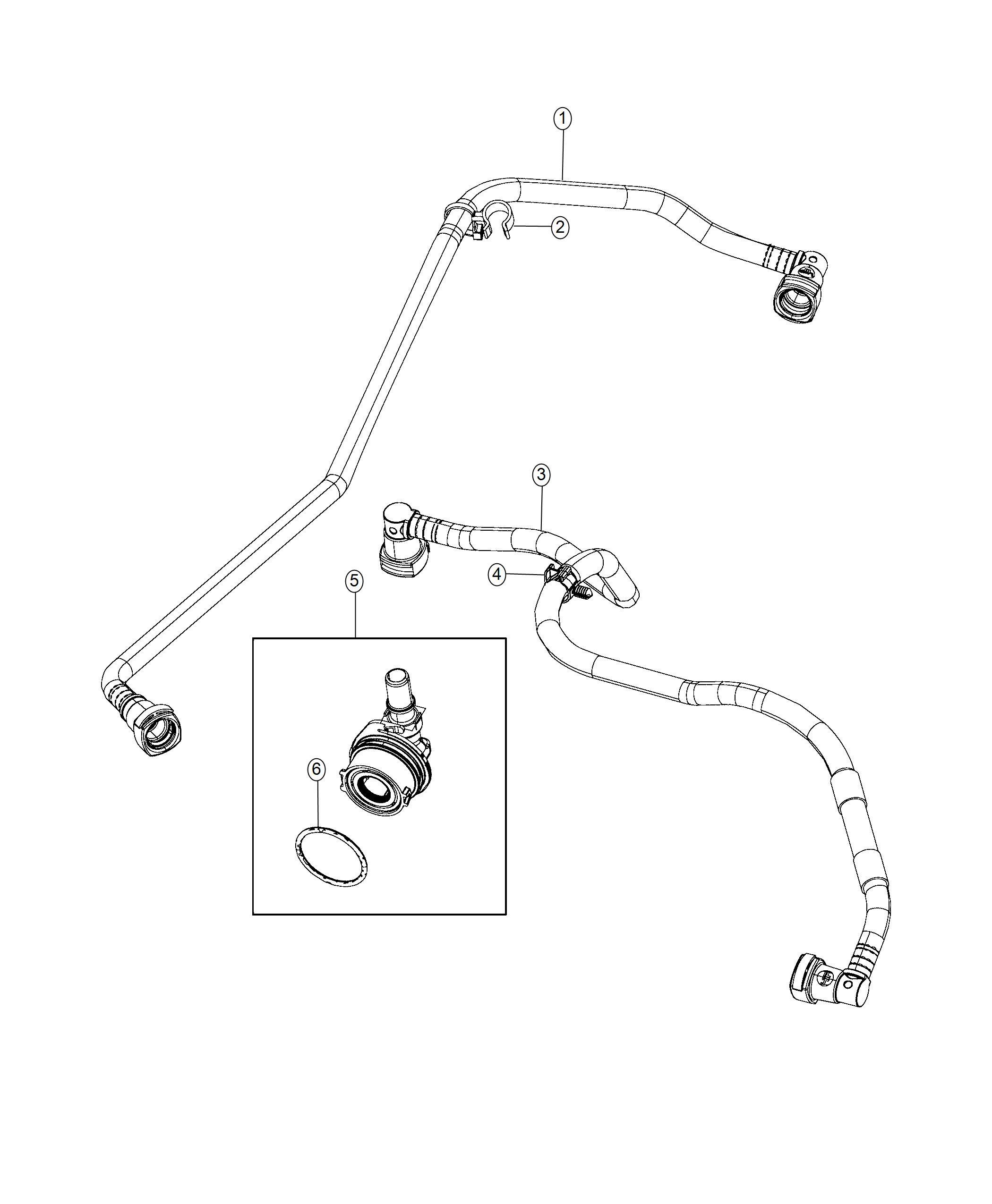 Jeep Wrangler Tube Pcv Valve