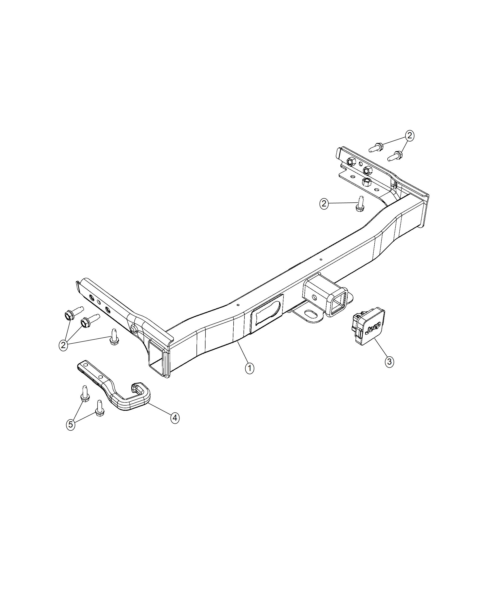 2019 Jeep Cherokee Hitch, receiver kit. Trailer, trailer