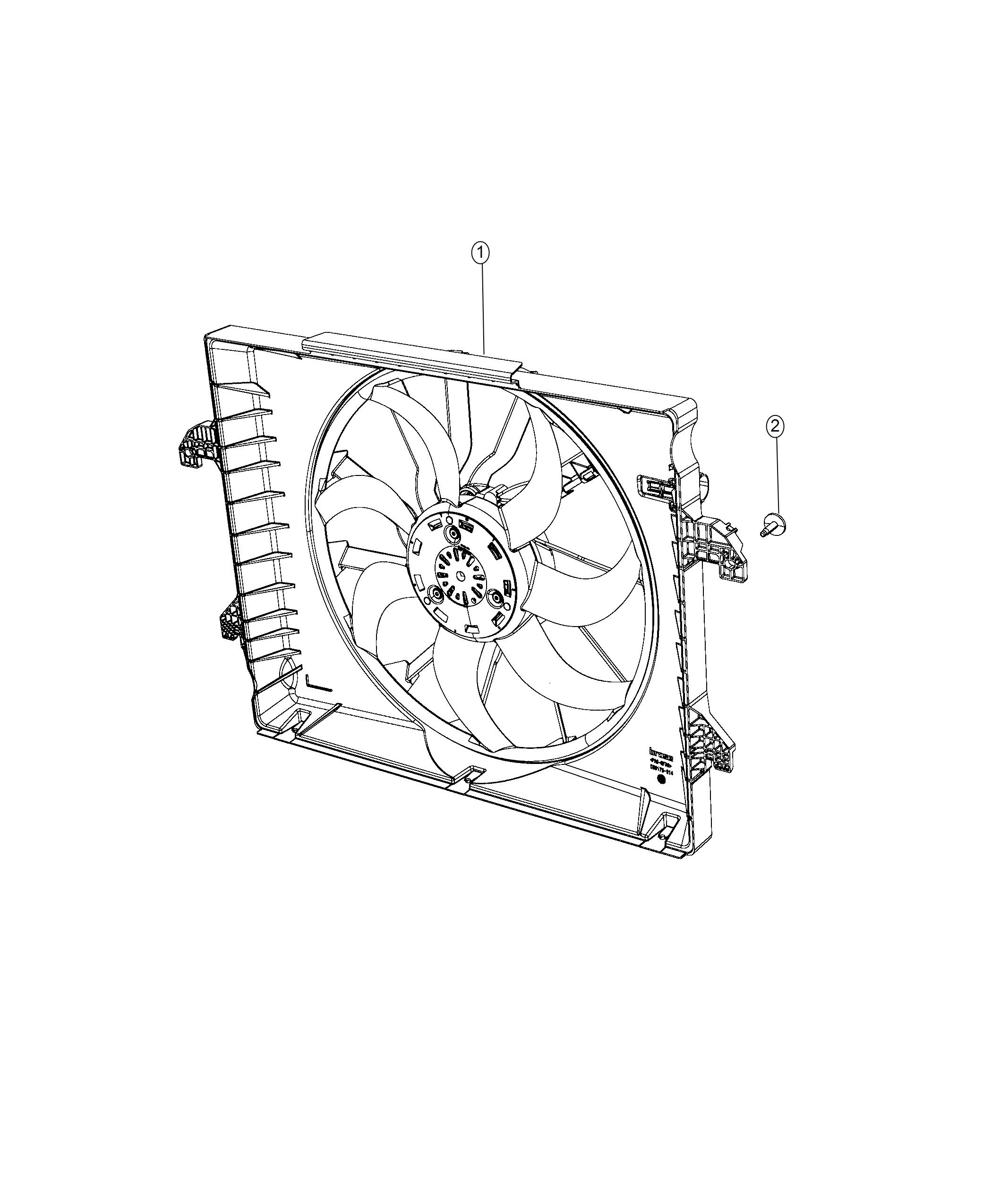 Ram Fan Module Radiator Cooling Front End Parts
