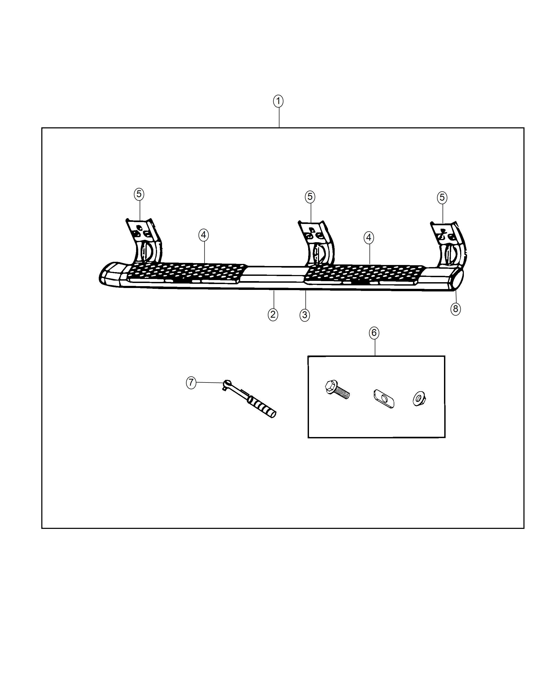 Ram Black Aluminum Tubular Side Steps Cab