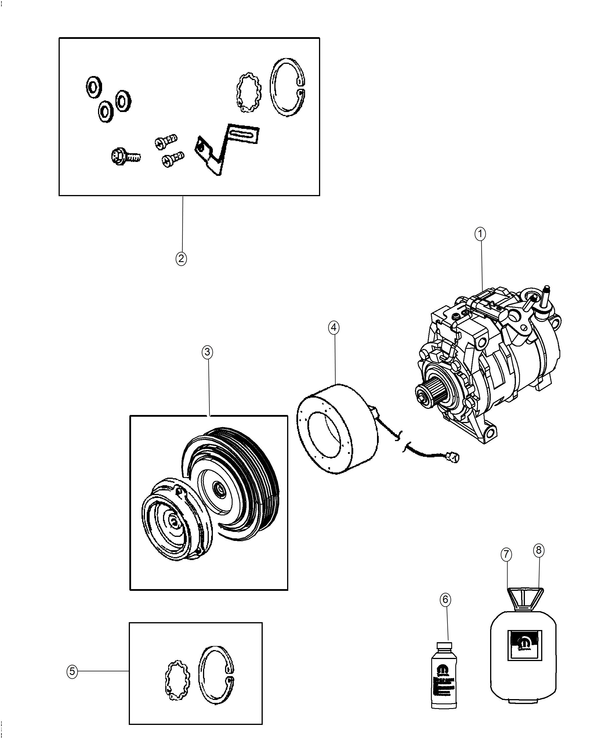 Dodge Challenger Coil. Air conditioning clutch. [do not