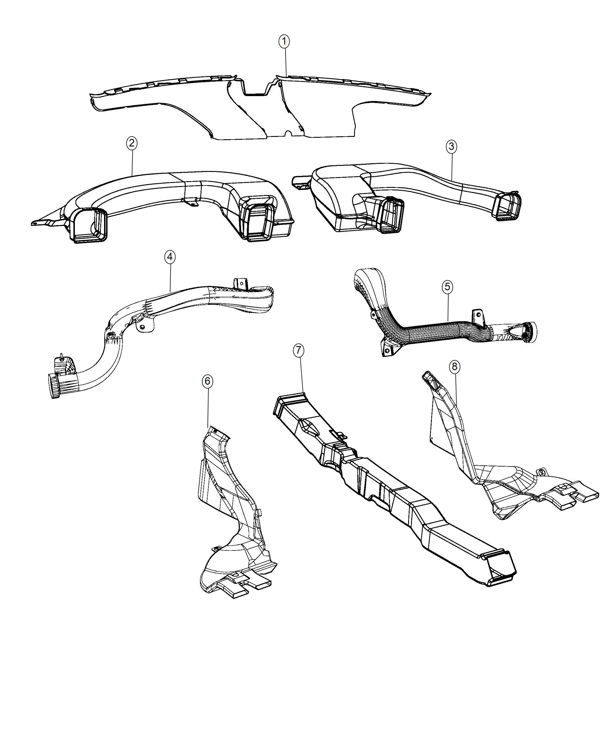 Dodge Charger Duct Defroster Trim No Description