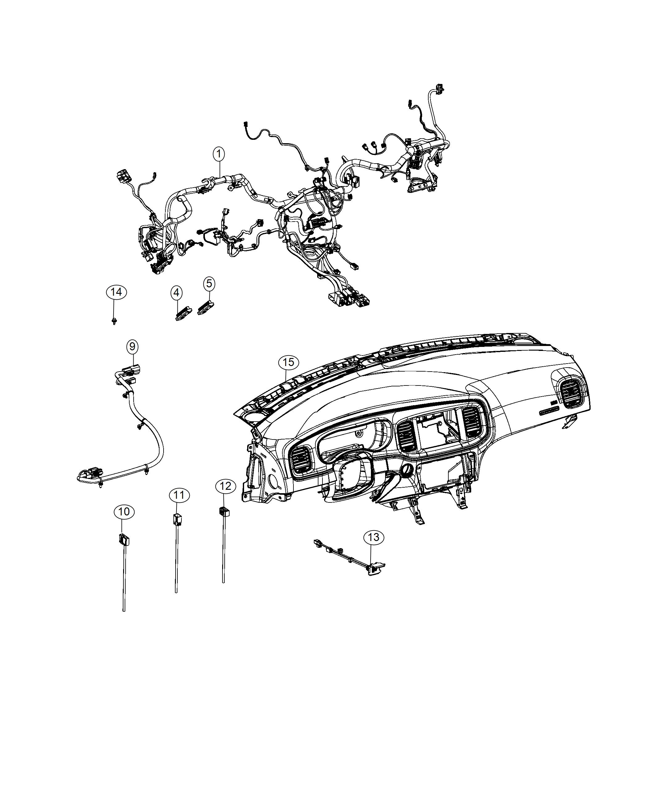 Dodge Charger Wiring. Jumper. [eps] harness, [eps] jumper