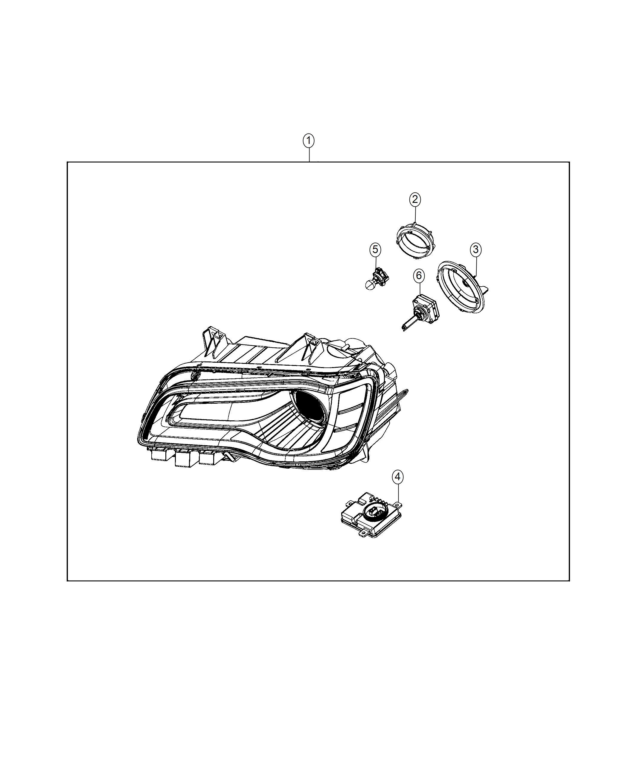 Chrysler 300 Headlamp Left Adaptive Bi Xenon Hid