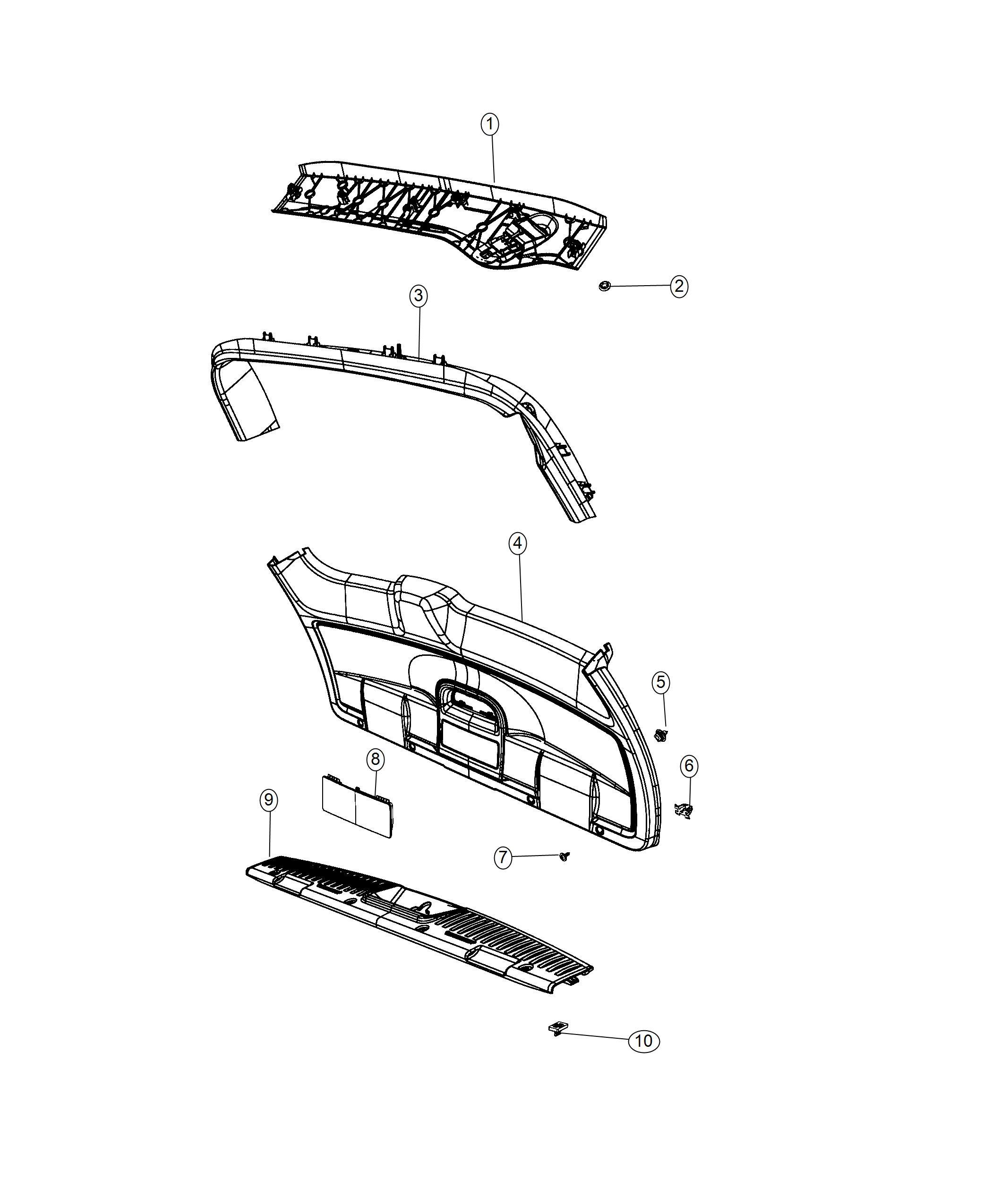 Dodge Grand Caravan Molding Scuff Plate Liftgate