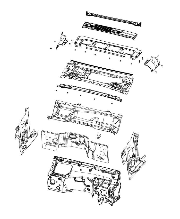 Jeep Wrangler Panel. Cowl top. [no description available