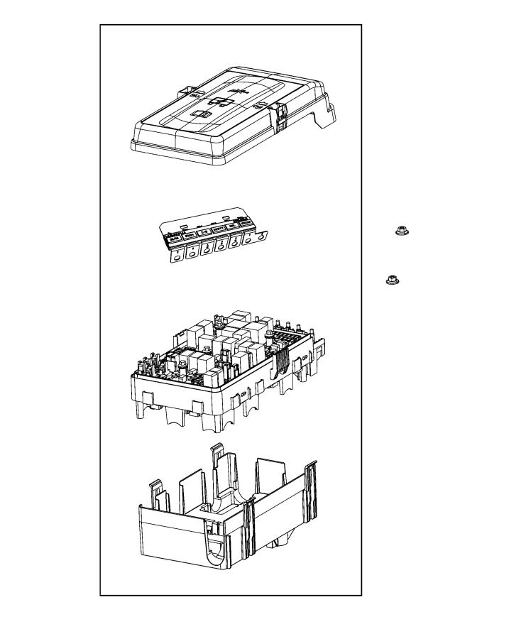 Jeep Wrangler Fuse. M case+. 60 amp. Export. [aux switches