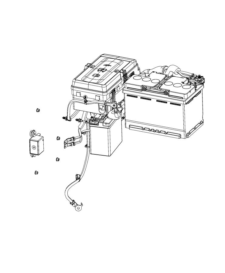 Jeep Wrangler Relay. Electrical. [stop-start dual battery