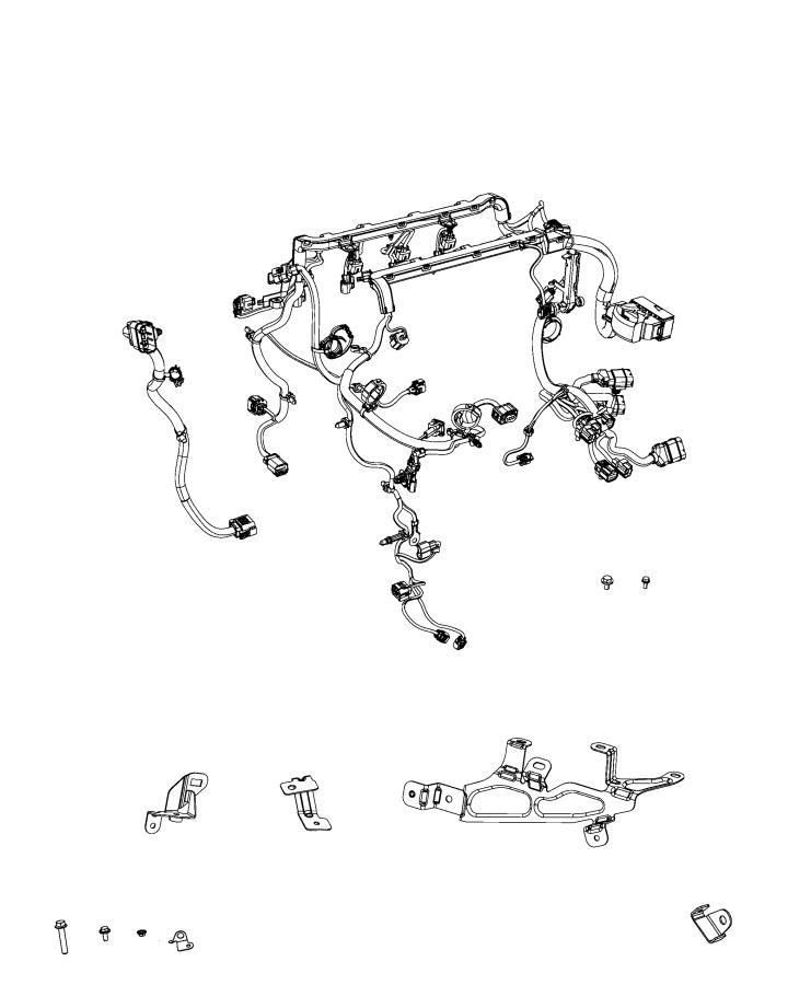 Jeep Compass Bracket. Wiring. [power train parts module