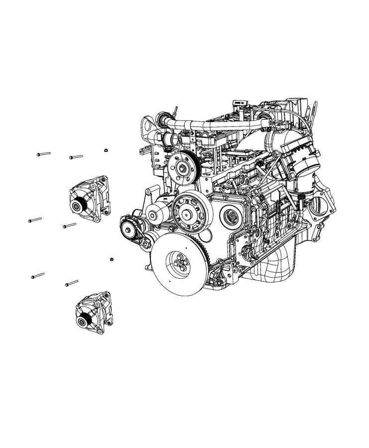 RAM 2500 Generator. Engine. [dual alternators rated at 440