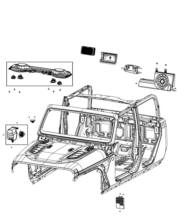 Jeep Gladiator Speaker. Front. Left front, right front
