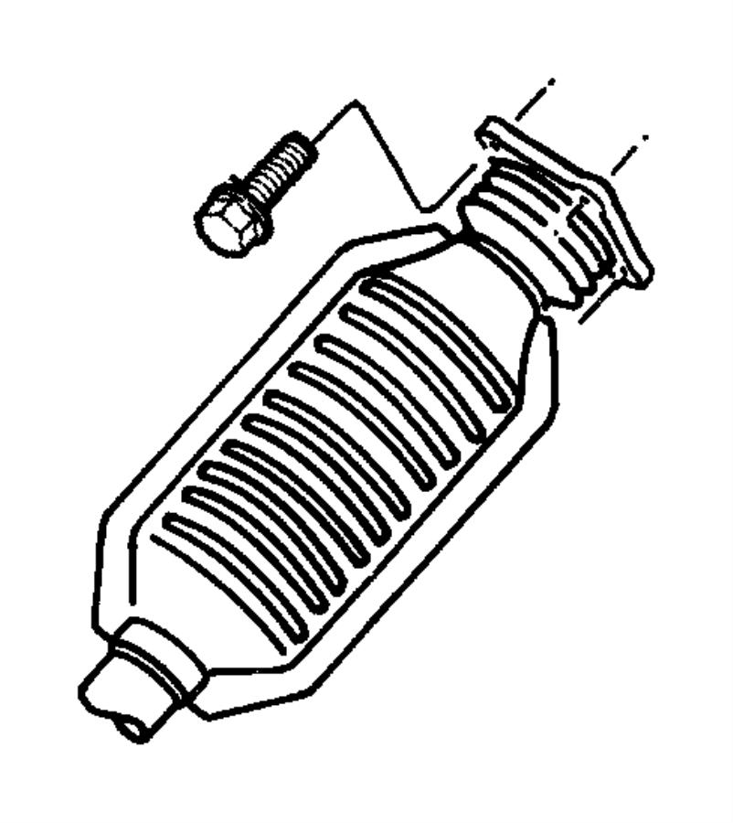 Dodge Ram 3500 Gasket. Exhaust manifold to front converter