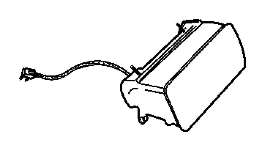 Plymouth Prowler Air bag. Passenger. [az], agate. Trim
