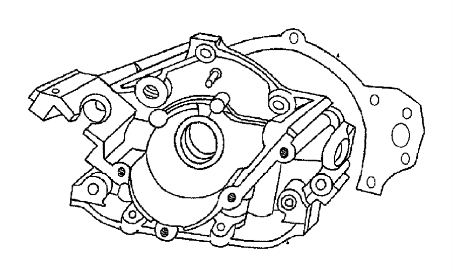 1997 Chrysler Lhs Timing Belt And Cover 3.5L Engine.