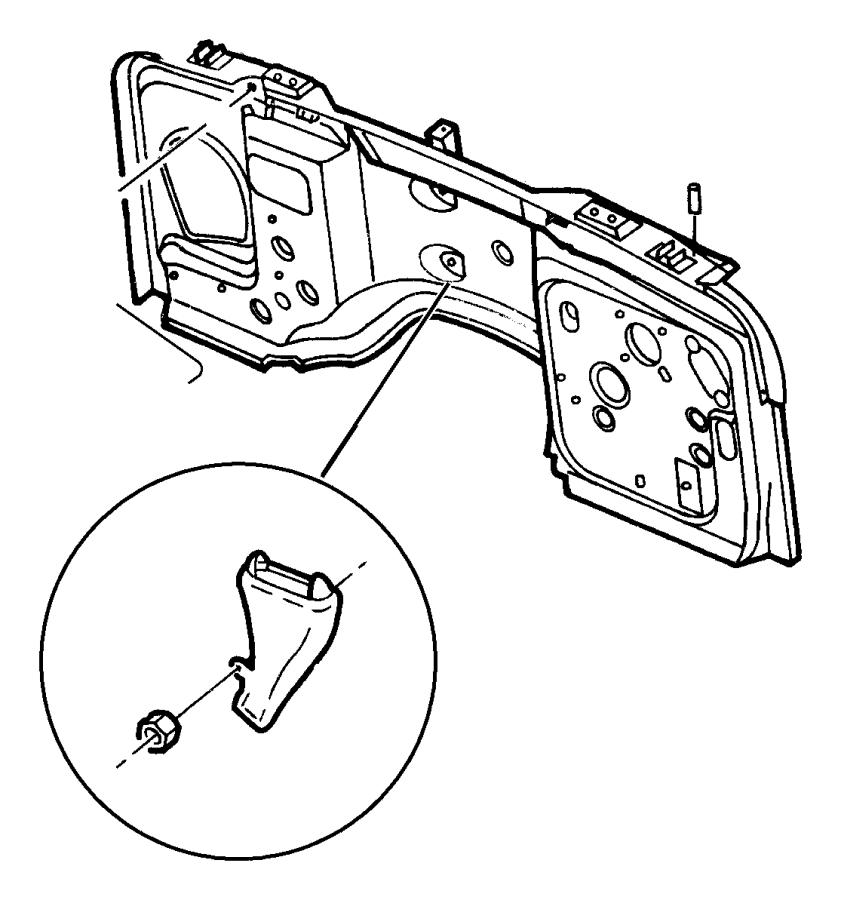 Dodge Nut Hex M6x1 00 Mounting Passenger Air Bag