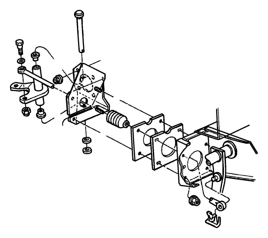 Chrysler Pt Cruiser Bushing. Pedal shaft. Automatic
