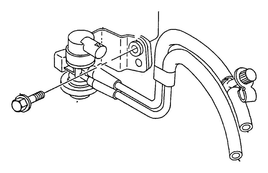 2004 Dodge Ram 1500 Emission Control Vacuum Harness, 3.7L