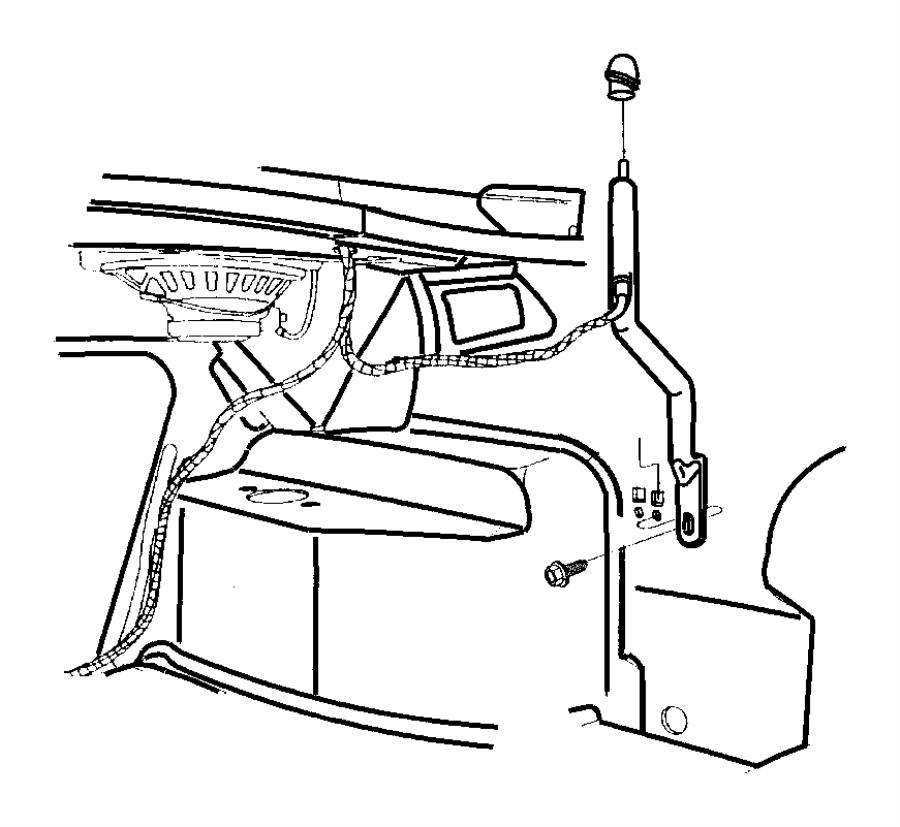 Chrysler Cirrus Grommet. Antenna. Vehiclesantenna