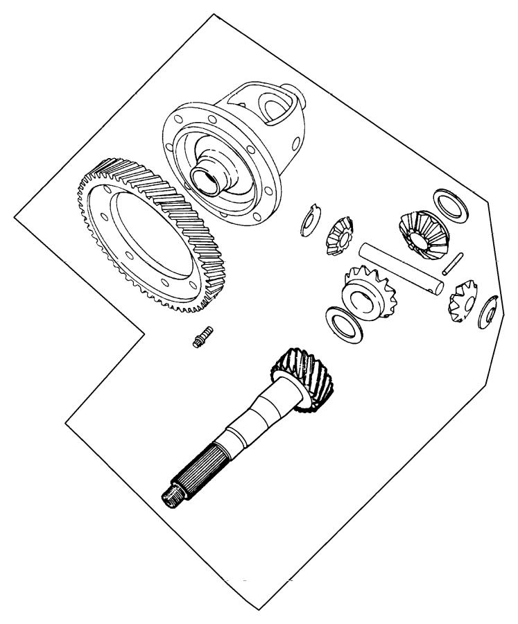 Chrysler Cirrus Shaft. Pinion gear, transmission