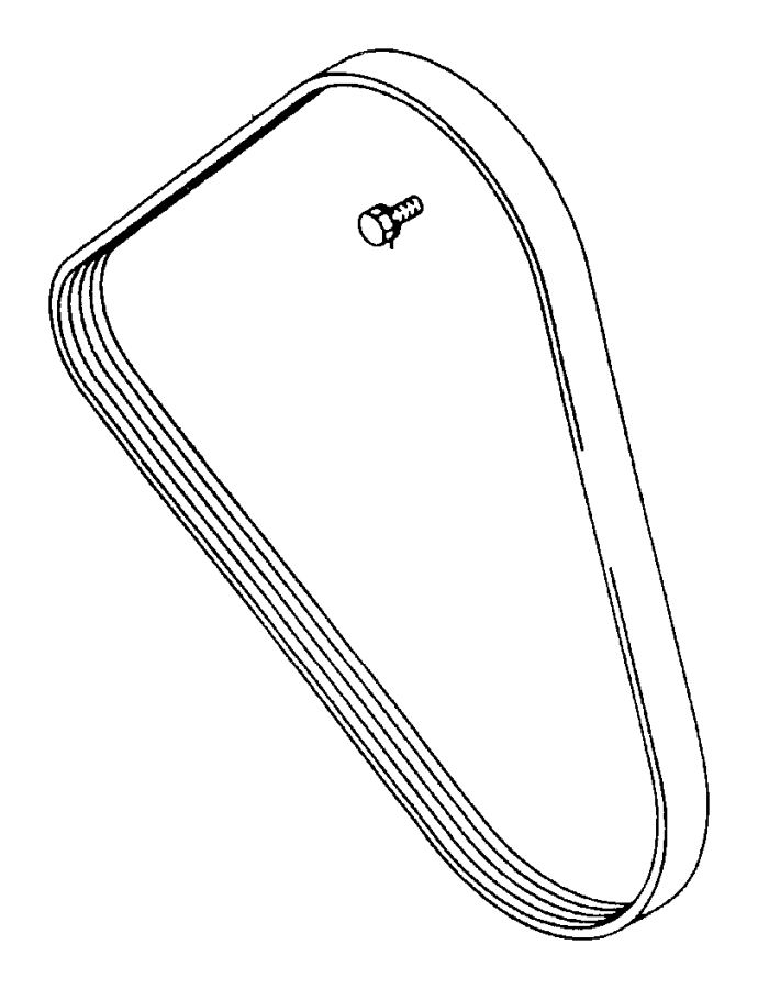 Eagle Talon Belt. Alternator drive. Manual trans